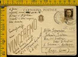 Regno Cartolina Intero Postale Imperiale Bellagio Como - Marcophilia
