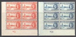 "KUT Scott 90/91 - SG155/156, 1946 Victory Set Blocks Of 6 ""79A 89B"" MNH** - Kenya, Uganda & Tanganyika"