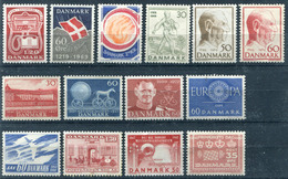 Denmark. 14 Different Stamps** - Lotes & Colecciones