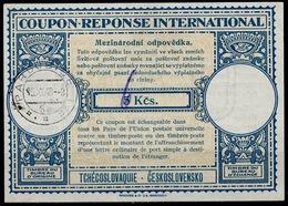 TCHÉCOSLOVAQUIE / CZECHOSLOVAKIA Lo14 ms. 6 / 5 Kcs Int. Reply Coupon Reponse Antwortschein IAS IRC O PARDUBICE 15.11. - Czechoslovakia