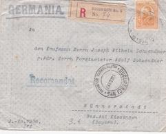 Lettre - ROUMANIE / ROMANA - Recommandé -  Germania - Kaiserlich Deutsches Konsulat In Bukarest - 1910 - 1881-1918: Charles I
