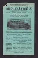 Old Advertisment, 1930s?, Auto Cars Colomb, Nice, France, Pullman Autobus, Bus Lines (minor Damage, See Scan) - Auto's