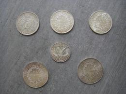 Lot Six Monnaies Argent (Napoléon III, Hercule, Marie Curie) - Monnaies & Billets