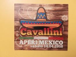 BIGLIETTO RISTORANTE CAVALLINI EVENTI APERI MEXICO SU CARTONCINO COLLEZIONE - Biglietti D'ingresso