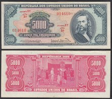 Brasilien - Brazil 5000 Cruzados 1963 Pick 174a Sig.12 VF (3)   (24790 - Banknoten