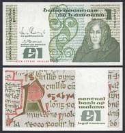 IRLAND - IRELAND 1 POUND Banknote 1989 Pick 70d AUNC (1-)  (24952 - Irlanda