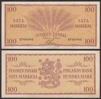 FINNLAND - FINLAND 100 MARKKA 1957 PICK 97a VF (3)   (24963 - Finland