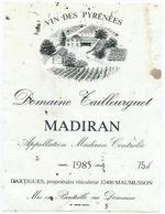 Etiquette Vin Madiran Domaine Tailleurguet 1985 - Madiran