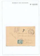 825/29 - TAXATION Sur Poste Militaire - Carte-Vue Postes Militaires Belges 1 En 1926 - Taxée 10 C à MECHELEN - Poststempel