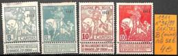 [830595]B//**/Mnh-c:52e-Belgique 1911 - N° 96/99, Caritas, (Mince), Chevaux - 1910-1911 Caritas