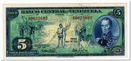 VENEZUELA,5 BOLIVARES,1966,P.49,AU - Venezuela