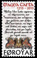 DANMARK Foroyar 0818 Magna Carta, Moyen-âge - Geschiedenis