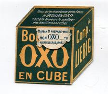 Publicité Cartonnée Dépliante : OXO  Bouillon En Cube De Chez Liébig   VOIR   DESCRIPTIF  §§§ - Publicités