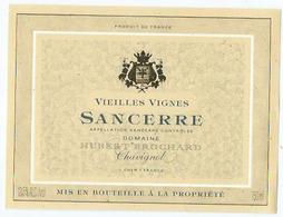 Etiquette Vin Sancerre Domaine Hubert Brochart - Bourgogne
