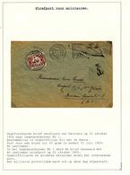 834/29 - TAXATION Sur Poste Militaire - Lettre (plus RARE) De VERVIERS 1926 - Taxée 40 C Par Postes Militaires Belges 1 - Marcophilie