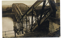 FLIZE Carte Phot Allemande 14/18 Construction D'un Pont - Otros Municipios