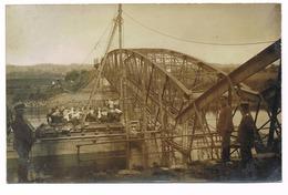 FLIZE Carte Photo Allemande 14/18 Construction D'un Pont - Otros Municipios