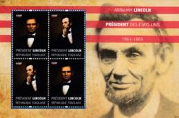 Togo - Abraham Lincoln President Des Etats - Unis 1861-1865 4v - Togo (1960-...)