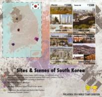 Sierra Leone - Sites & Scenes Of South Kerea (PHILAKOREA 2014 WORLD STAMP EXHIBITION) 4V - Sierra Leone (1961-...)