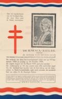 Nederlands Indië - 1934 - Leaflet En Cover Emma Zegels Ten Bate Van Tuberculose Bestrijding - Netherlands Indies