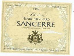 Etiquette Vin Sancerre Domaine Henry Brochart 1994 - Etiquettes