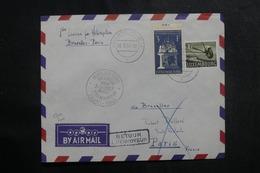 LUXEMBOURG - Enveloppe Par 1er Vol Par Hélicoptère Bruxelles / Paris En 1957 - L 41400 - Luxemburg