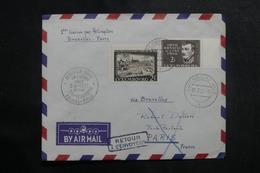 LUXEMBOURG - Enveloppe Par 1er Vol Par Hélicoptère Bruxelles / Paris En 1957 - L 41401 - Luxemburg