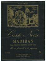 Etiquette Madiran Carte Noire - Madiran