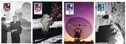 Australia 2019 Set 4 MC Maximum Cards Apollo 11 Moon Landing 50th Anniversary Espace Space - FDC & Gedenkmarken