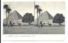 GIZEH - Grande Pyramide - Carte Ancienne Stéréoscopique - VENTE DIRECTE X - Gizeh