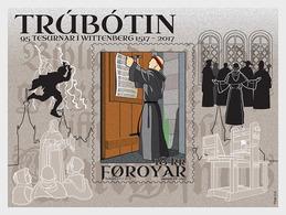 DANMARK Foroyar 0900 Et Feuillet, Martin Luther, Trubotin - Theologians