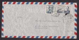 Spain: Airmail Cover To USA, 1954, 2 Stamps, Helicopter, Cancel Las Palmas De Gran Canaria, Canary Islands (creases) - 1931-Tegenwoordig: 2de Rep. - ...Juan Carlos I