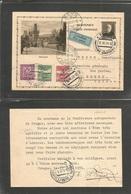 CZECHOSLOVAKIA. 1931 (13 June) Praha - Switzerland, Bern (13 June) Air Multifkd Illustrated Stat Card. Praha. VF. - Czechoslovakia