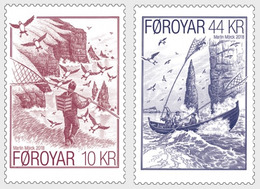 DANMARK Foroyar 0914/15 Oiseaux, Voilier, Macareux - Non Classificati