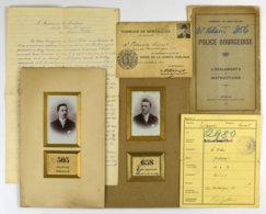28684g Première Guerre Mondiale  - Police Bourgeoise De Saint-Gilles. Ensemble De 11 Documents Et Photographies - Documents