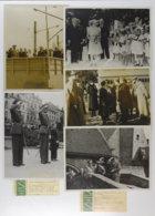 28691g Famille Royale Belge. Groupe De Cinq Photographies GRAPHOPRESSE De 1939 Ou 1940 Baudoinville à Hoboken - Personnes Identifiées