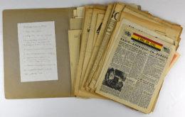 28687g TX - Deuxième Guerre Mondiale - Tracts Et Presse Clandestine. Réunion De Plus 50 Documents, Tracts Parachutés - 1939-45