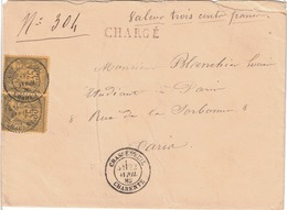 LETTRE - 1898-1900 Sage (Type III)