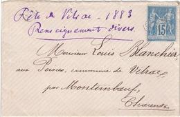 LETTRE - 1876-1898 Sage (Type II)
