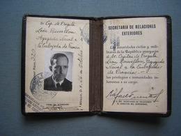 MEXIQUE - CARTE DE DIPLOMATE FRANCAIS - RELATIONS EXTERIEURES 1945 ( 2 ) - Documenti Storici