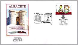 12 MESES - 12 SELLOS - ALBACETE - Castillo De Cinchilla - Navaja - Pocketknife. SPD/FDC Albacete 2019 - Castillos