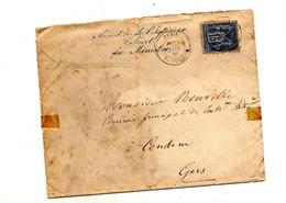 Lettre Cachet Paris Sur Sage + Lettre Entete Ministere Interieur - Marcofilie (Brieven)