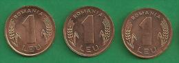 = ROMANIA - 1 LEU - 1995 - UNC -  3 PIECES  # 274  = - Rumänien