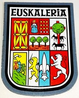 Ancien Autocollant EUSKALERIA à Double Face - Old Double-sided EUSKALERIA Shield Sticker - Pegatinas