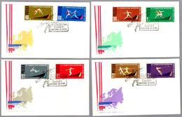 7º CAMP. DE EUROPA DE ATLETISMO - SELLOS SIN DENTAR - 7th Eur. Athletics Champ. Belgrado 1962. Set 4 SPD/FDC - Atletismo