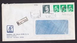 Spain: Registered Cover, 1986, 4 Stamps, R-label Santany, Mallorca, Balearic Islands (damaged, See Scan) - 1931-Tegenwoordig: 2de Rep. - ...Juan Carlos I