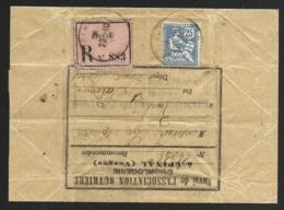 Vosges-Recommandé D'Epinal-Mouchon 25c-Envoi De L'Association Ouvriere D'horlogerie-Echantillon 3e échelon - Poststempel (Briefe)