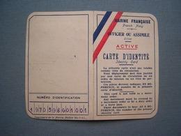 MARINE FRANCAISE - CARTE OFFICIER EN ACTIVITE - CASABLANCA 1943 - Documenti Storici