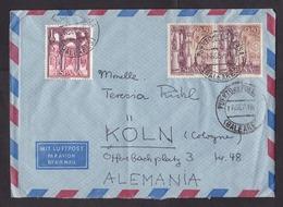 Spain: Airmail Cover To Germany, 1968, 3 Stamps, Cancel Puerto De Pollensa, Mallorca, Balearic Islands (minor Damage) - 1931-Tegenwoordig: 2de Rep. - ...Juan Carlos I