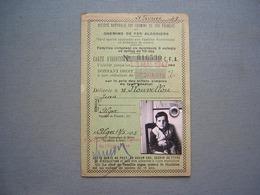 CARTE DE REDUCTION SNCF - CHEMINS DE FER - ALGER 1945 ( 4 ) - Biglietti Di Trasporto